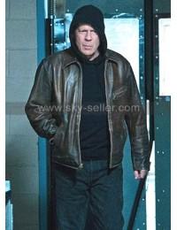 Death Wish Paul Kersey Bruce Willis Brown Distressed Leather Jacket