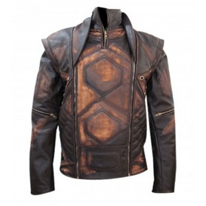 Distressed Copper Aniline Vintage Brown Classic Jacket