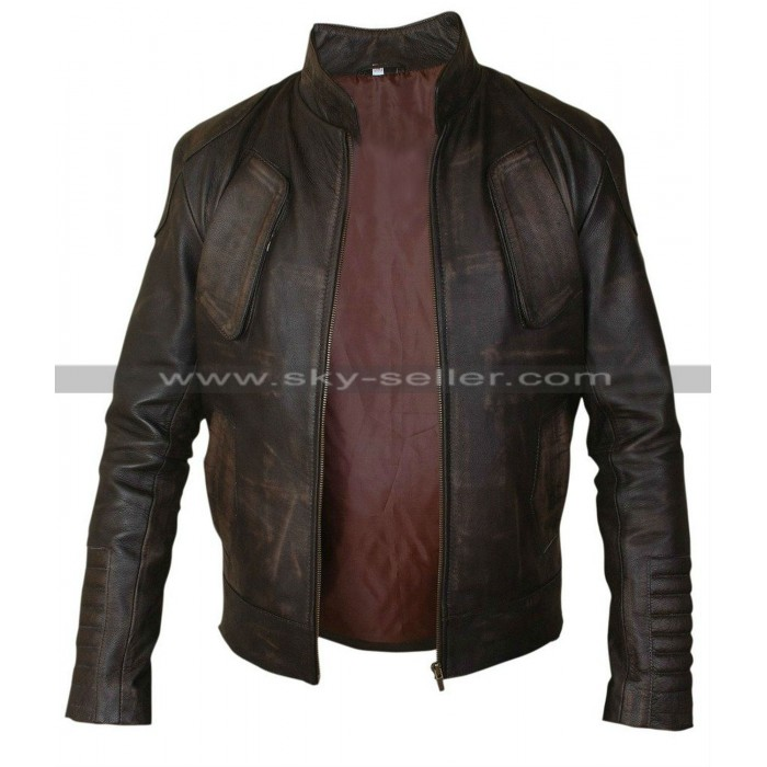 Guy Pearce Lockout Snow Brown Distressed Jacket