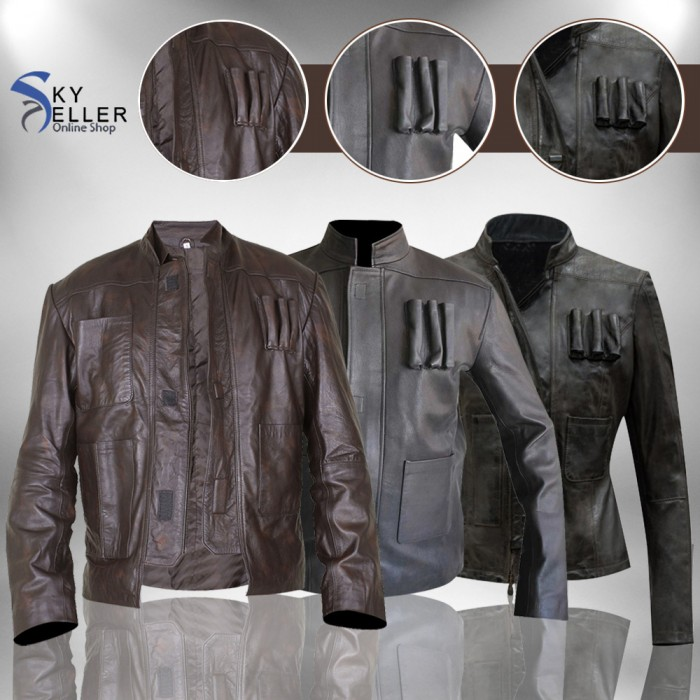 Han Solo Star Wars Force Awakens Leather Jacket