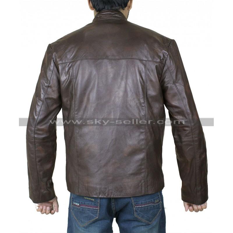 fe225df17 Han Solo Star Wars Force Awakens Leather Jacket