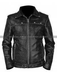 Long Way Down Aaron Paul JJ Black Distressed Jacket