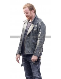 Captain Marvel Robert Kazinsky Distressed Leather Jacket