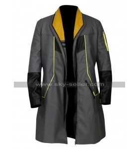 Detroit Become Human Markus Android RK200 Cosplay Black Leather Coat