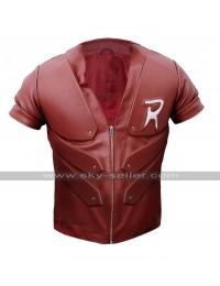 Red Robin Batman Arkham City Tim Drake Costume Red Leather Jacket
