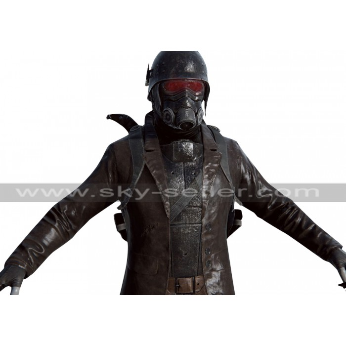Fallout 4 Scavenged NCR Armor Brown Leather Coat