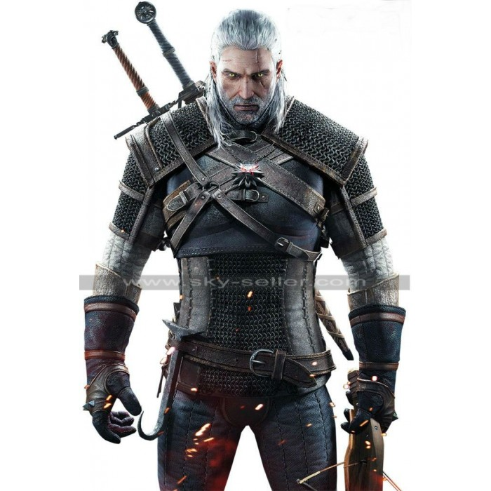Witcher 3 Wild Hunt Geralt Warrior Leather Jacket