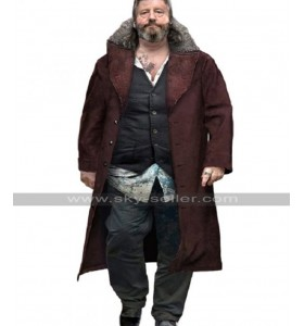 Detroit Become Human Hank Anderson Brown Fur Collar Suede Leather Coat