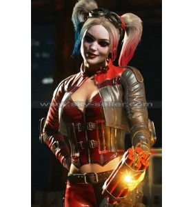 Harley Quinn Injustice 2 Cosplay Leather Costume