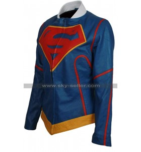 Supergirl Injustice 2 Blue Costume Leather Jacket