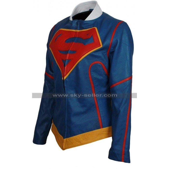 Supergirl Injustice 2 Blue Costume Leather Jacket