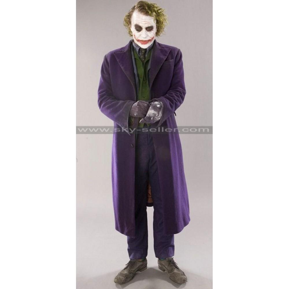 Batman Arkham Origins The Joker Purple Wool Coat