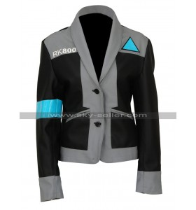 Detroit Become Human Kara Android AX400 Black Costume Leather Jacket