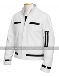 The King of Fighters Kyo Kusanagi White Leather Jacket