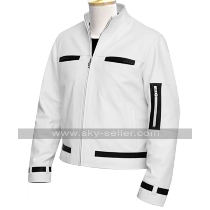 The King of Fighters Kyo Kusanagi White Leather Jacket