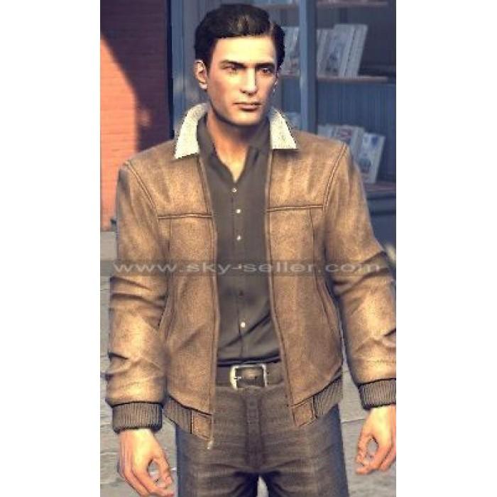 Mafia 2 Game Vito Scaletta Bomber Leather Jacket