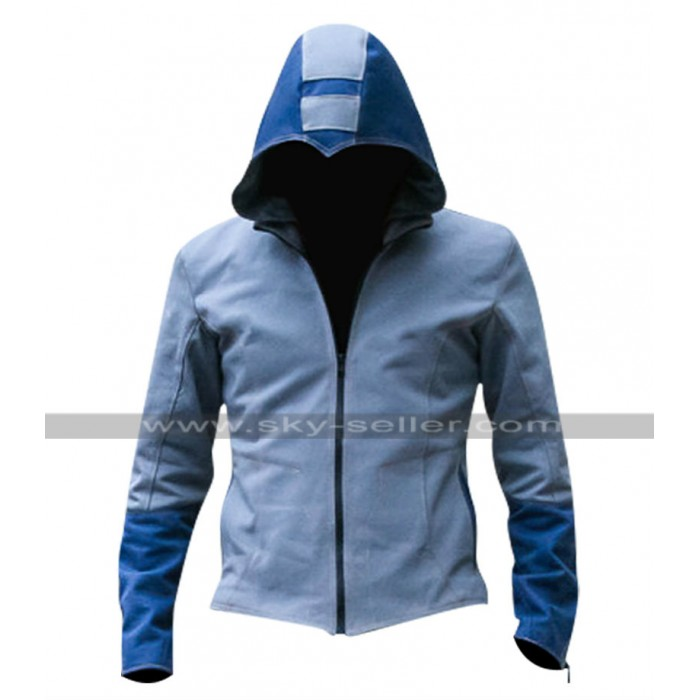 Mega Man Leather Jacket with Hoodie