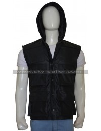 Johnny Cage Mortal Kombat X Hooded Leather Vest