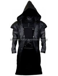 Overwatch Reaper Cosplay Hooded Leather Costume