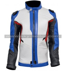 Soldier 76 Overwatch Game Motorcycle Leather Jacket