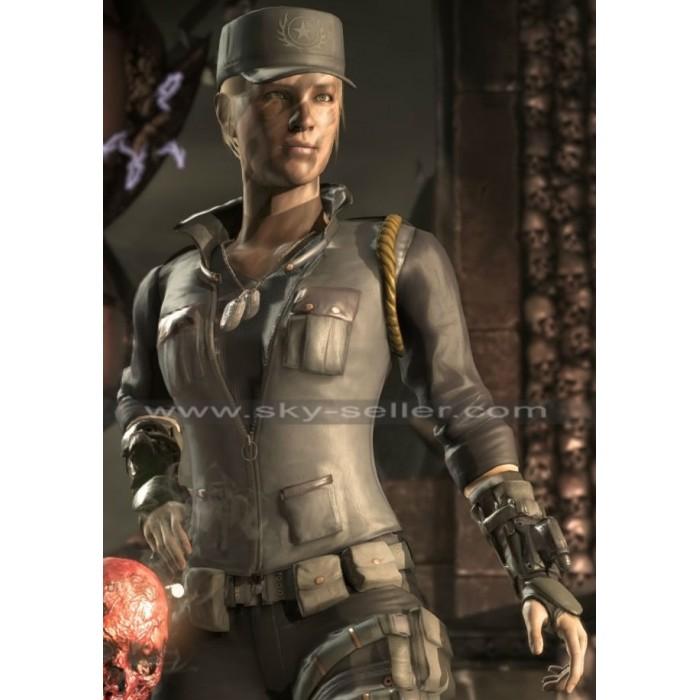 Sonya Blade Mortal Kombat X Soldier Vest Jacket