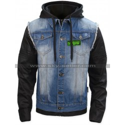 T-Bone Grady Watch Dogs Bad Blood Denim Leather Jacket