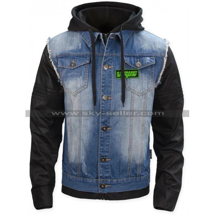 T-Bone Grady Watch Dogs Bad Blood Denim Leather Jacket