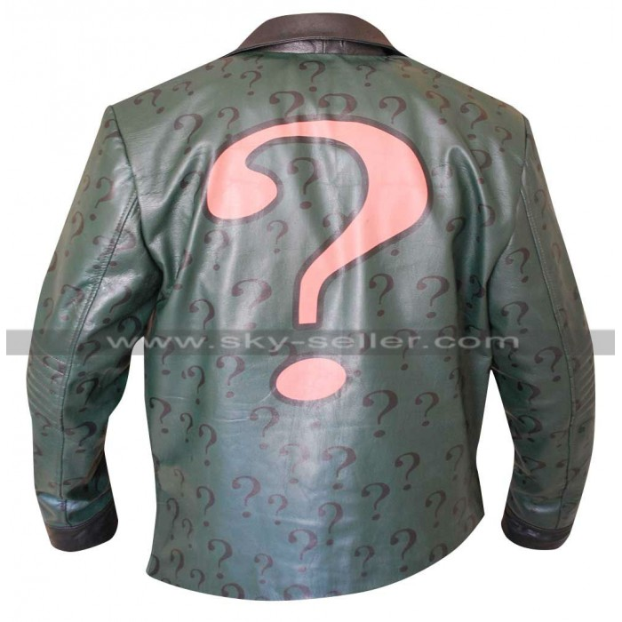 The Riddler Batman Arkham City Edward Nigma Leather Jacket