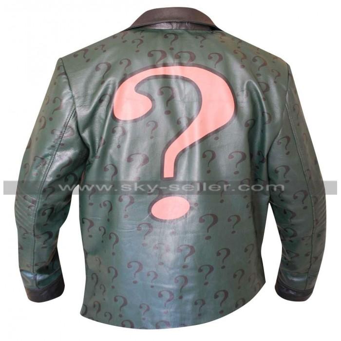 The Riddler Batman Arkham City Edward Nigma Leather Jacket