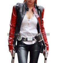 Tomb Raider Legend Lara Croft Black Biker Leather Jacket