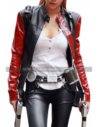 Tomb Raider Legend Lara Croft Black Biker Leather Jacket