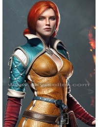 Triss Merigold Witcher 3 Wild Hunt Sorceress Brown Jacket