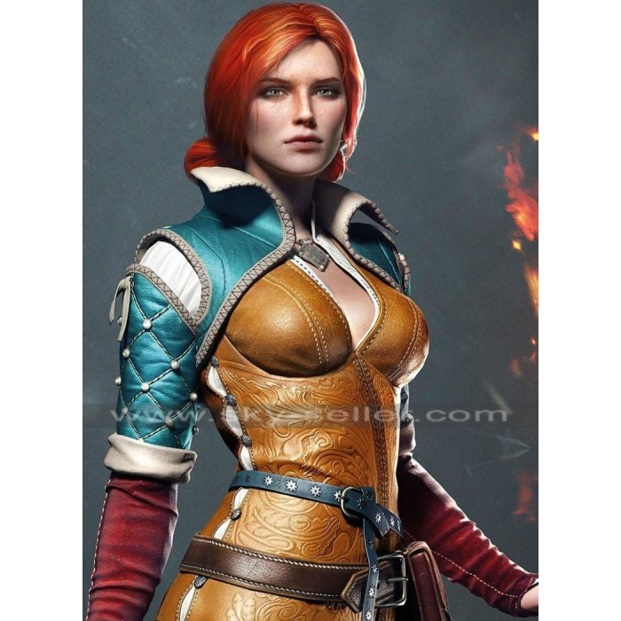 Triss Merigold Witcher 3 Wild Hunt Sorceress Brown Jacket