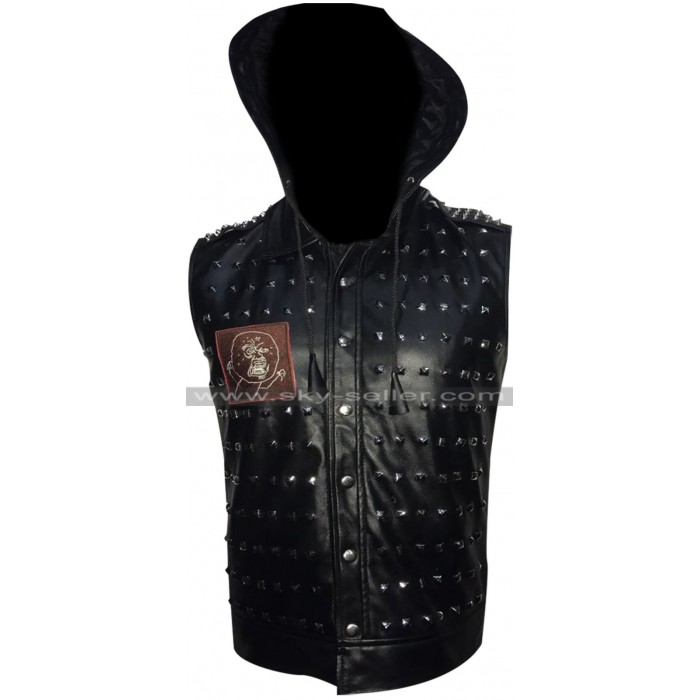 Watch Dogs 2 Dedsec Wrench Studded Cosplay Leather Vest