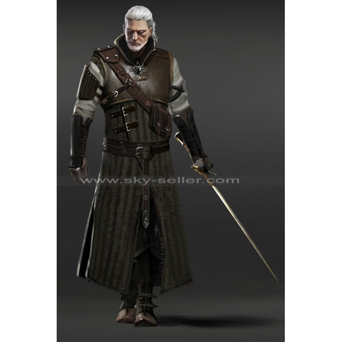 The Witcher 3 Wild Hunt Geralt Bear Armor Leather Costume