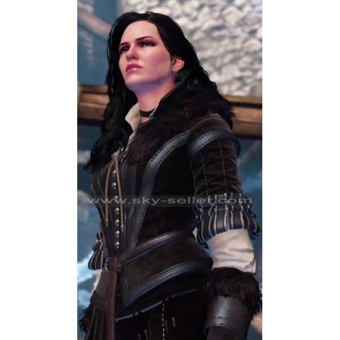 Witcher 3 Wild Hunt Yennefer Leather Costume Jacket