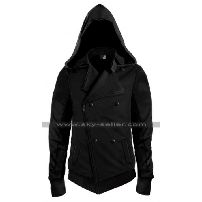 Assassin's Creed Movie Callum Lynch Black Leather Hoodie