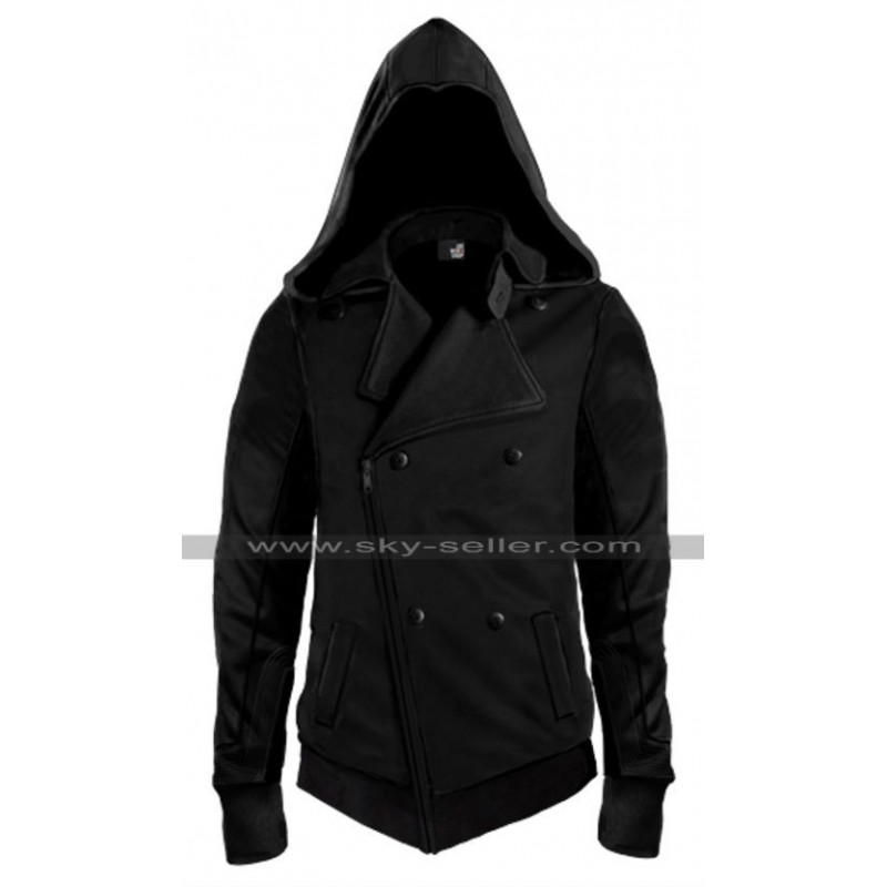 Assassin S Creed Movie Callum Lynch Black Leather Hoodie
