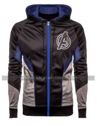Avengers Endgame Black Hoodie Satin Costume Jacket