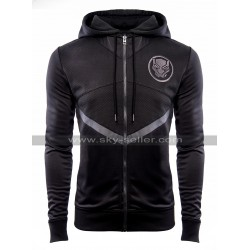 Avengers Infinity War Black Panther Black Costume Hooded Cotton Jacket