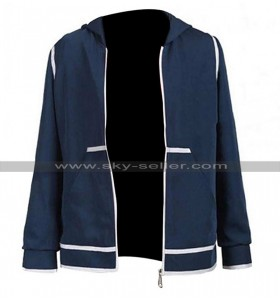 Big Hero 6 Hiro Hamada Blue Hoodie Bomber Fleece Jacket