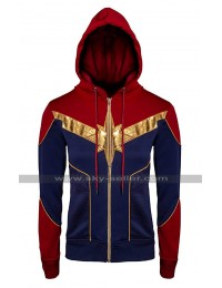 Captain Marvel Carol Danvers Costume Hoodie Cotton Bomber Jacket