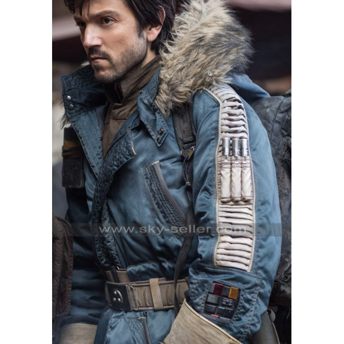Diego Luna Rogue One Rebel Cotton Parka