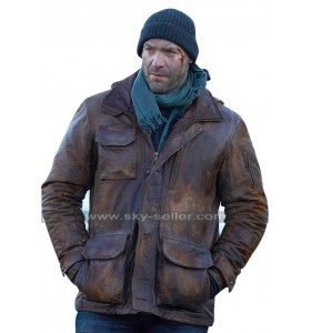 Corey Stoll The Strain Ephraim Goodweather Hooded Brown Leather Jacket