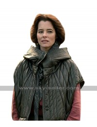 Lost in Space Dr. Zachary Smith (Parker Posey) Black Hoodie Quilted Leather Jacket
