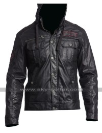 Men's Dark Battle Slim Fit Biker Leather Jacket