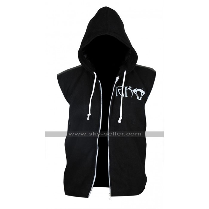 WWE Randy Orton RKO Hoodie Black Fleece Vest