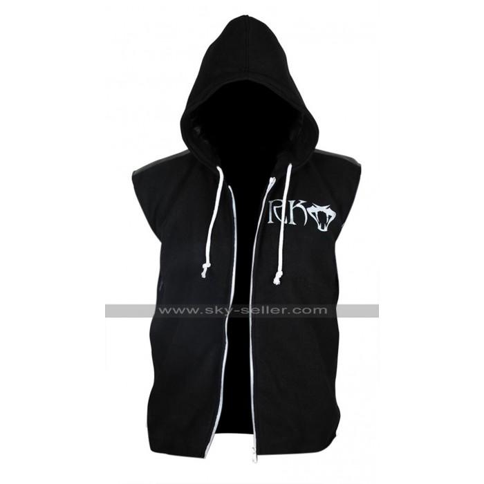 WWE Randy Orton RKO Hoodie Black Fleece Vest