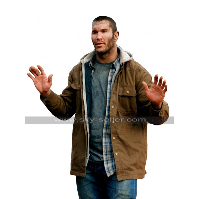8d9e51c81 Randy Orton The Condemned 2 Will Tanner RKO Hoodie Brown Cotton Jacket