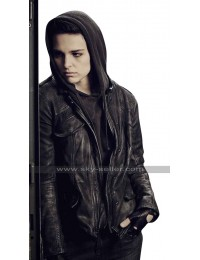 Baldwin Counterpart Sara Serraiocco Hooded Black Leather Jacket